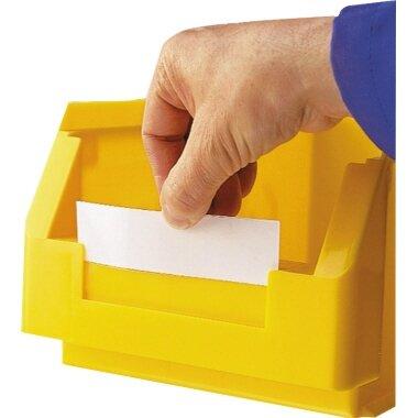 Einsteckkarte 8 x 6,2 cm (B x H) weiß 10 St./Pack.