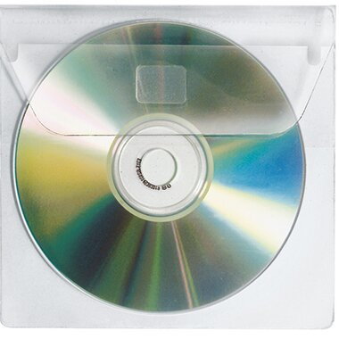 Veloflex CD/DVD Hülle 137 x 125 mm (B x H) Polypropylen transparent 10 St./Pack.