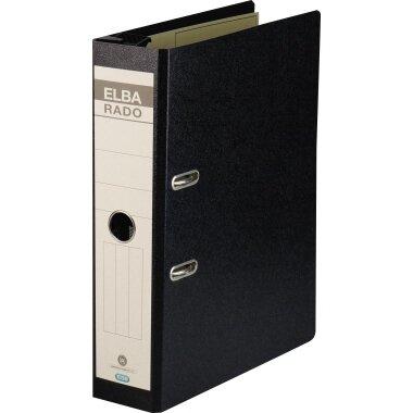 ELBA Hängeordner rado 75mm DIN A4 Hartpappe schwarz