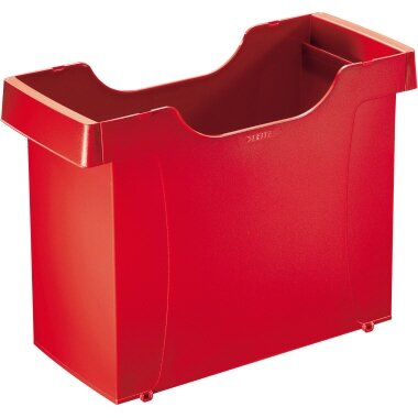 Leitz Hängemappenbox Uni-Box Plus DIN A4 20 Hängemappen Polystyrol rot