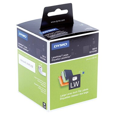 DYMO® Ordneretikett LabelWriter&trade- Wireless, -320, -330 Turbo, -400, -400 Duo, -400 Turbo, -400 Twin Turbo, -450, -450 Duo, -450 Turbo, -450 Twin Turbo, LW 4XL 59 x 190 (B x H) Papier weiß 110 Etik./Rl.