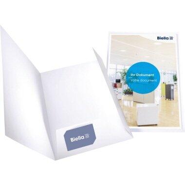 Biella Präsentationsmappe Pearl 1 DIN A4 Karton weiß