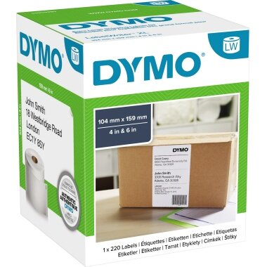 DYMO® Versandetikett 104 x 159 mm (B x H) Papier weiß