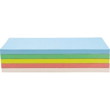 magnetoplan® Moderationskarte 20 x 9,5 cm (B x H) 130g/m˛ Offsetpapier farbig sortiert 250 St./Pack.