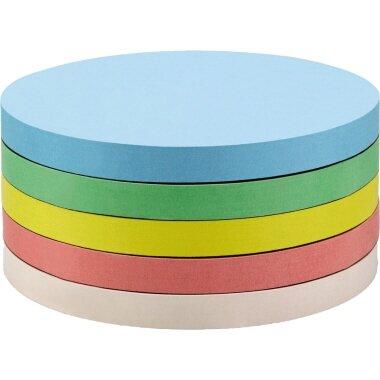 magnetoplan® Moderationskarte 9,5cm 130g/m˛ Offsetpapier farbig sortiert 250 St./Pack.