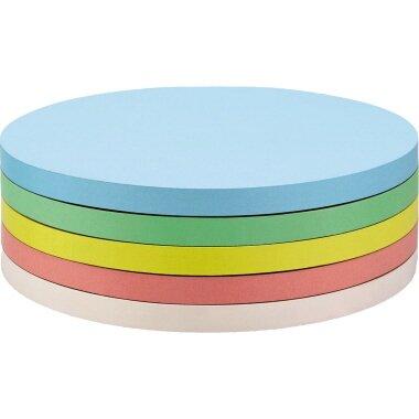 magnetoplan® Moderationskarte 14cm 130g/m˛ Offsetpapier farbig sortiert 250 St./Pack.