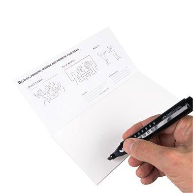 Moderationskarte Notes M 20 x 10 cm (B x H) Polypropylen, recyclebar weiß