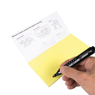 Moderationskarte Notes M 20 x 10 cm (B x H) Polypropylen, recyclebar gelb