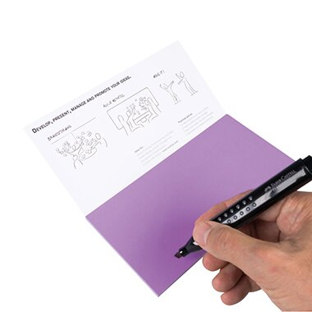 Moderationskarte Notes M 20 x 10 cm (B x H) Polypropylen, recyclebar lila