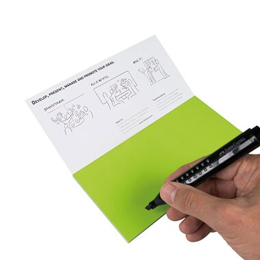 Moderationskarte Notes M 20 x 10 cm (B x H) Polypropylen, recyclebar grün