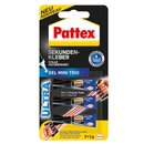 Pattex Sekundenkleber Ultra Gel Mini Trio Gummi, Leder,...
