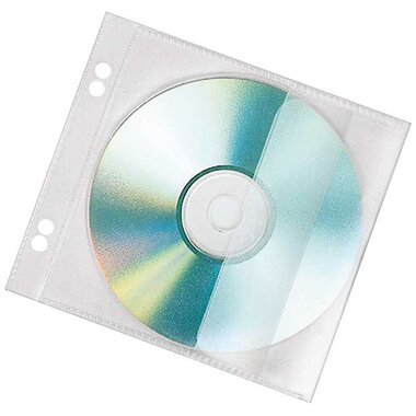 Veloflex CD/DVD Hülle 12,8 x 20,3 cm (B x H) Polypropylen transparent 10 St./Pack.
