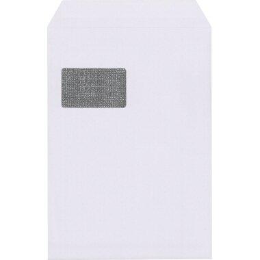 Versandtasche Lettersafe DIN C4 mit Fenster 120g/m˛ mit Haftklebung Offsetpapier weiß 250 St./Pack.
