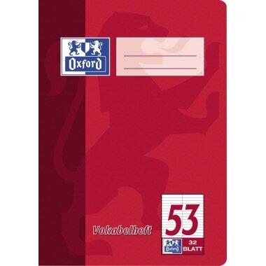 Oxford Vokabelheft DIN A5 liniert 90g/m˛ 32 Bl.