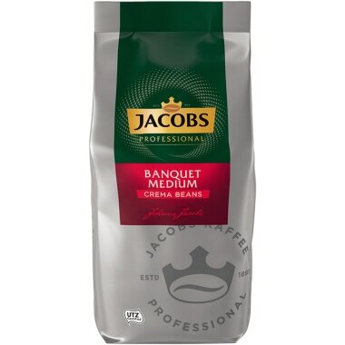 JACOBS Kaffee Bankett Café Crème medium ganze Bohne 1.000 g/Pack.
