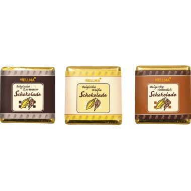 Hellma Schokolade 165 x 4,5 g/Pack.