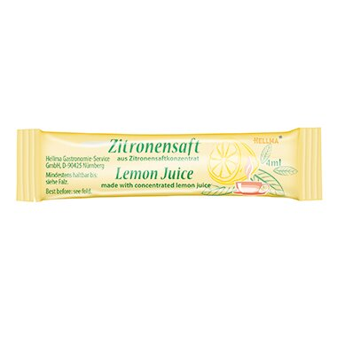 Hellma Zitronensaft Stick 100 x 4 ml/Pack.