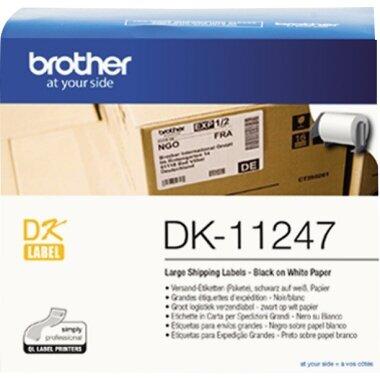 Brother Versandetikett 103 x 164 mm (B x H) Papier weiß