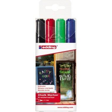 edding Kreidemarker 4095 2-3mm rot, blau, grün, schwarz 4 St./Pack.