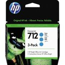 HP Tintenpatrone 712 cyan 3 x 29ml 3 St./Pack.